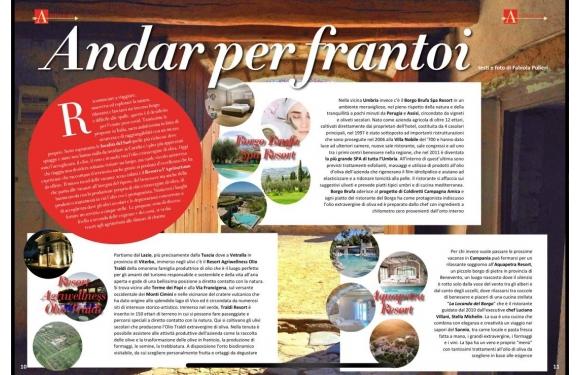 Olio Traldi e Traldi Resort AgriWellness recensiti sulla rivista