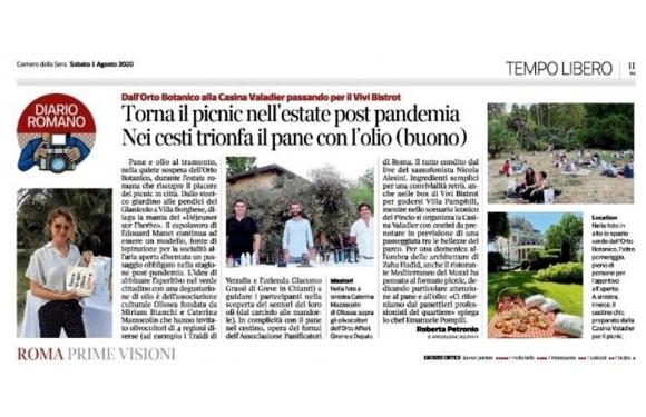 Olio Traldi di Francesca Boni protagonista all'Orto Botanico di Roma (Rassegna Stampa)